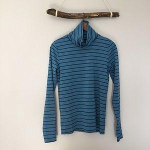Like | Blue Striped Stretch Turtleneck